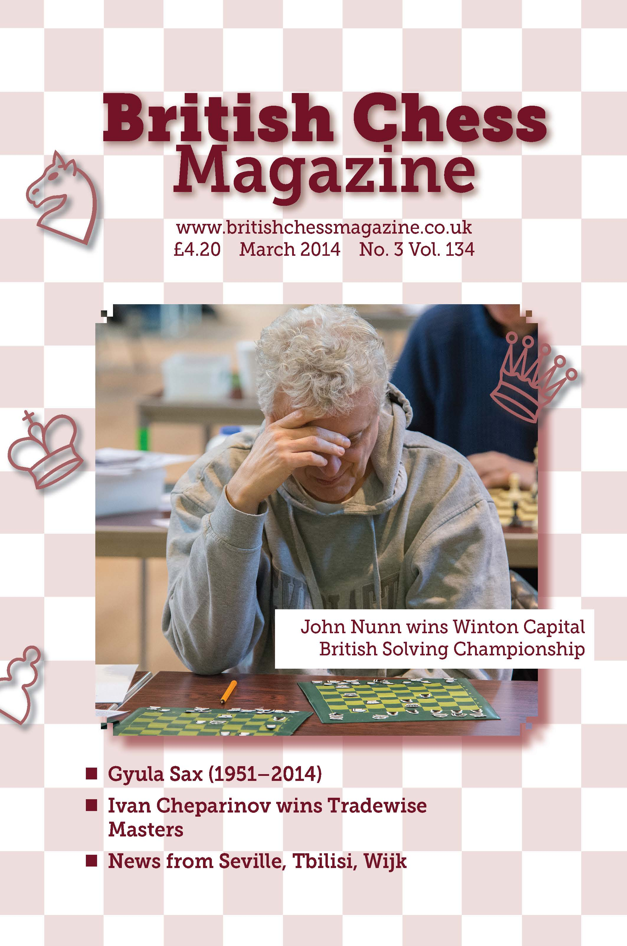This is the product image for British Chess Magazine - Back Issues Any Year. Detail: BCM. Product ID: BCM-BACKISSUES.