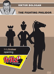 This is the product image for The Fighting Philidor. Detail: 1 E4 OPENINGS. Product ID: CBFT-BOFPDVD.