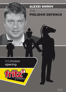 This is the product image for The Philidor Defence. Detail: 1 E4 OPENINGS. Product ID: CBFT-SOPDDVD.