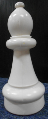 This is the product image for Small Giant Bishop (White). Detail: SPARES. Product ID: GSCHESSBW.